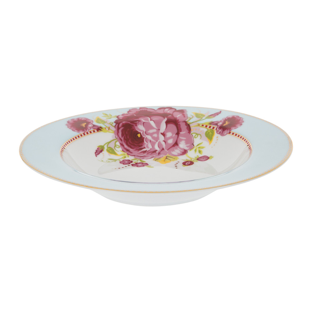 Pip Studio - Floral Pasta Plate - Blue