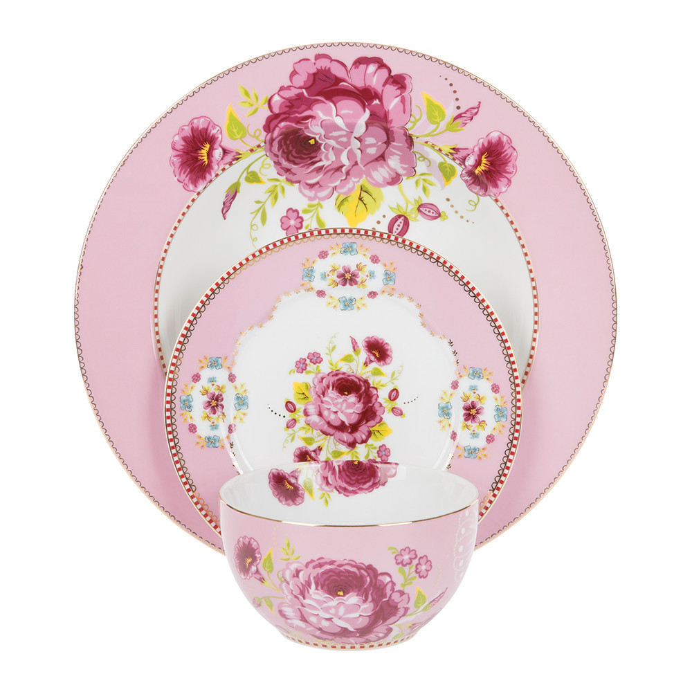 Pip Studio - Floral Pasta Plate - Pink