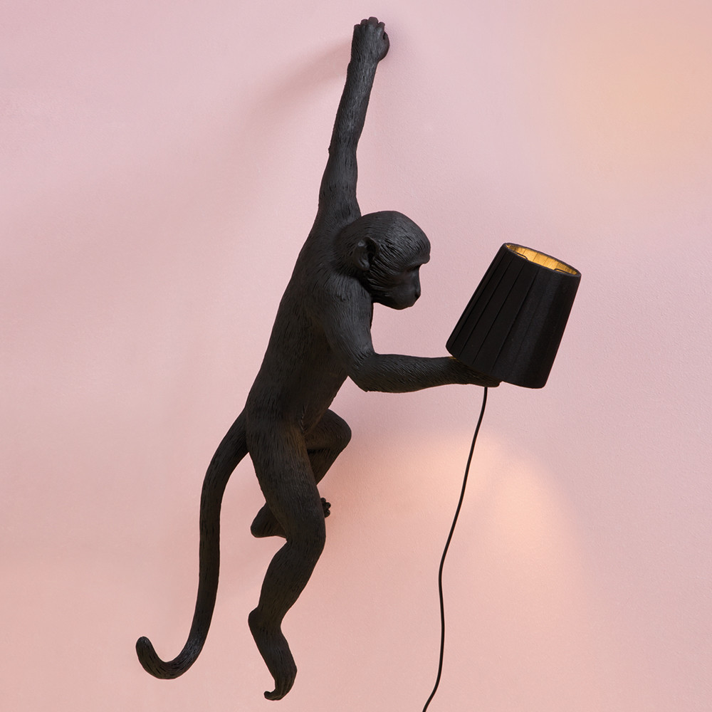 Seletti - Monkey Lamp - Hanging - Black