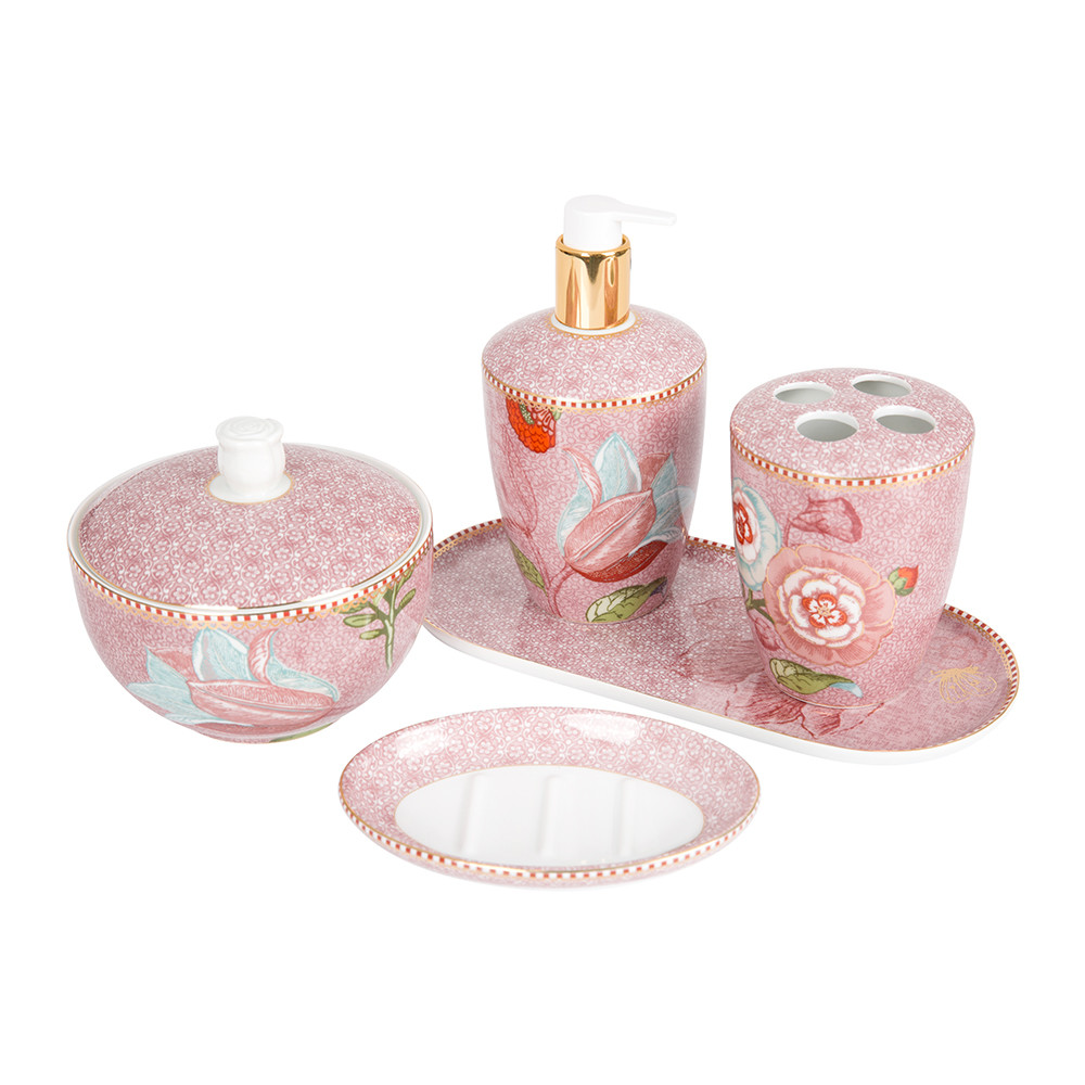 Buy pip studio spring to life soap dispenser pink amara for Pink bathroom accessories sets
