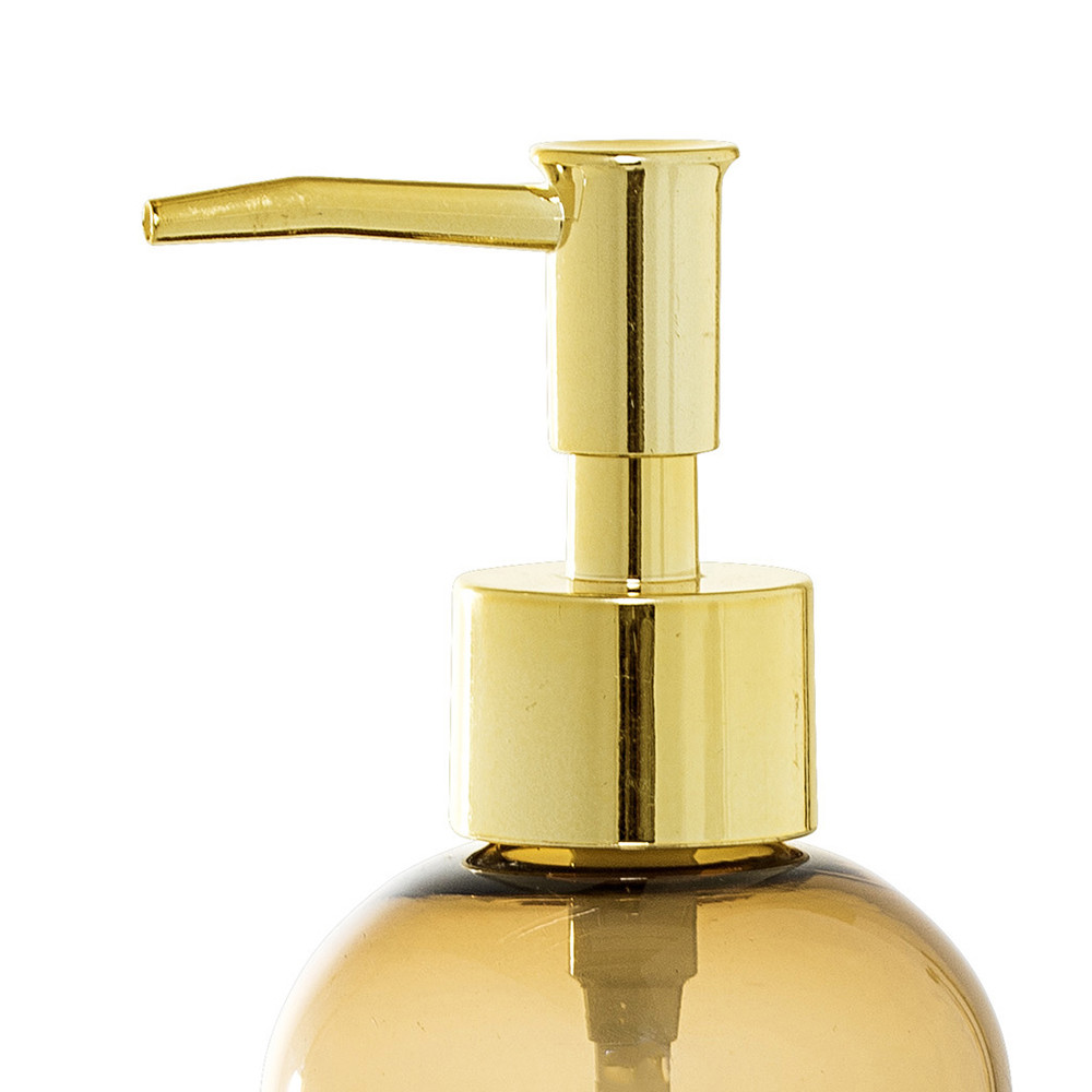 Buy bloomingville brown glass soap dispenser amara for Brown glass bathroom accessories