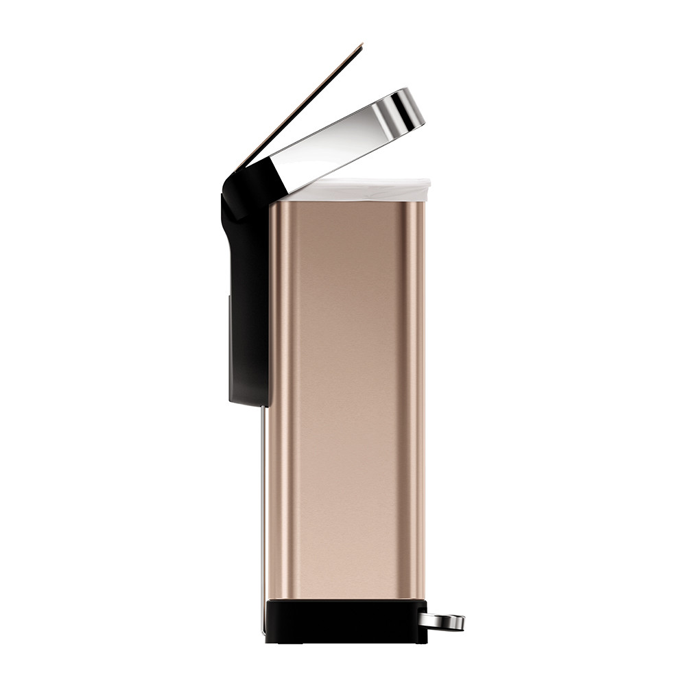 buy simplehuman classic rectangular rose gold pedal bin 45l amara. Black Bedroom Furniture Sets. Home Design Ideas