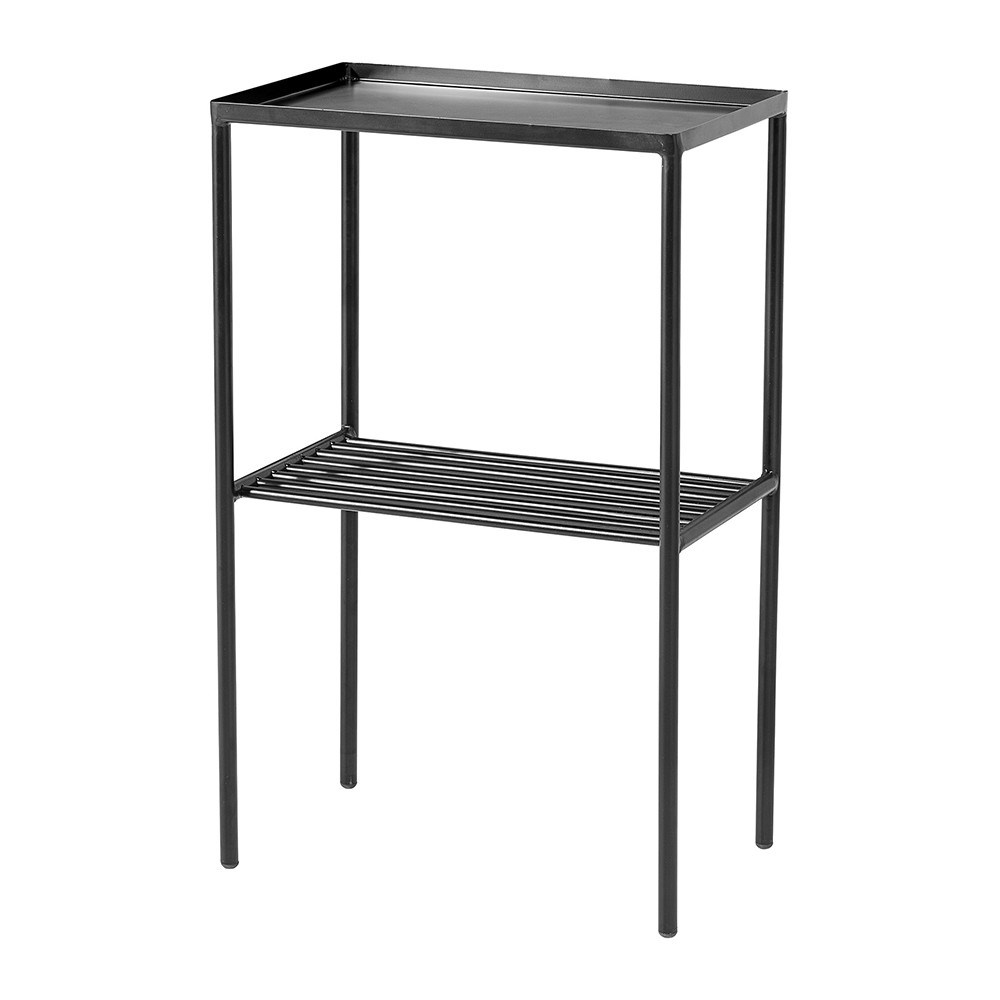 buy bloomingville grid sidetable matt black amara. Black Bedroom Furniture Sets. Home Design Ideas