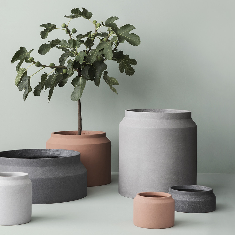 Buy Ferm Living Concrete Pot Small Light Grey Amara