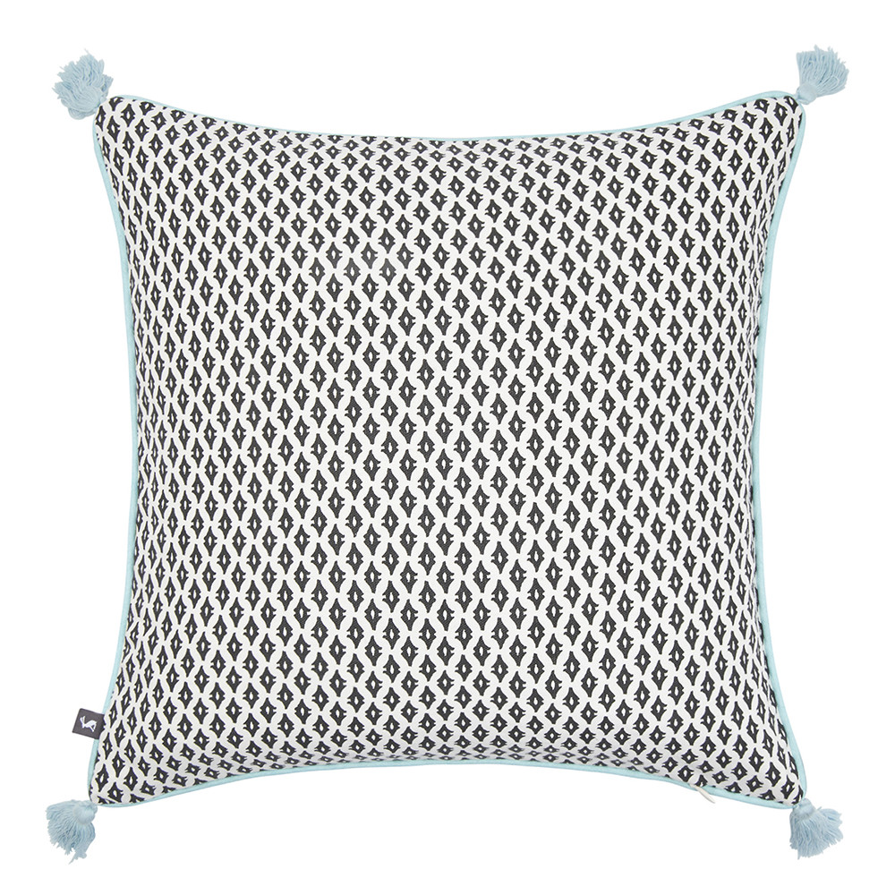 Joules - Bumblebee Pillow with Tassels - 40x40cm - Silver
