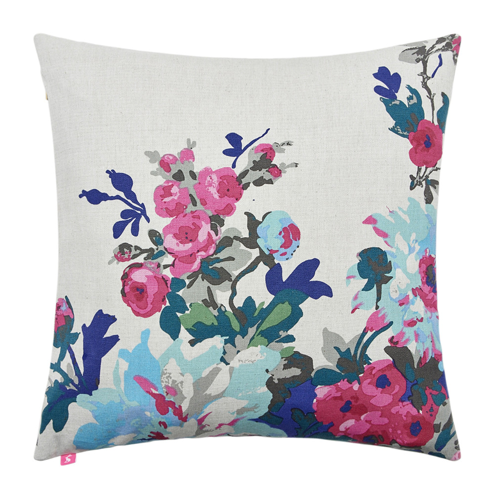 Joules - Birchley Cushion - 40x40cm - Silver Floral