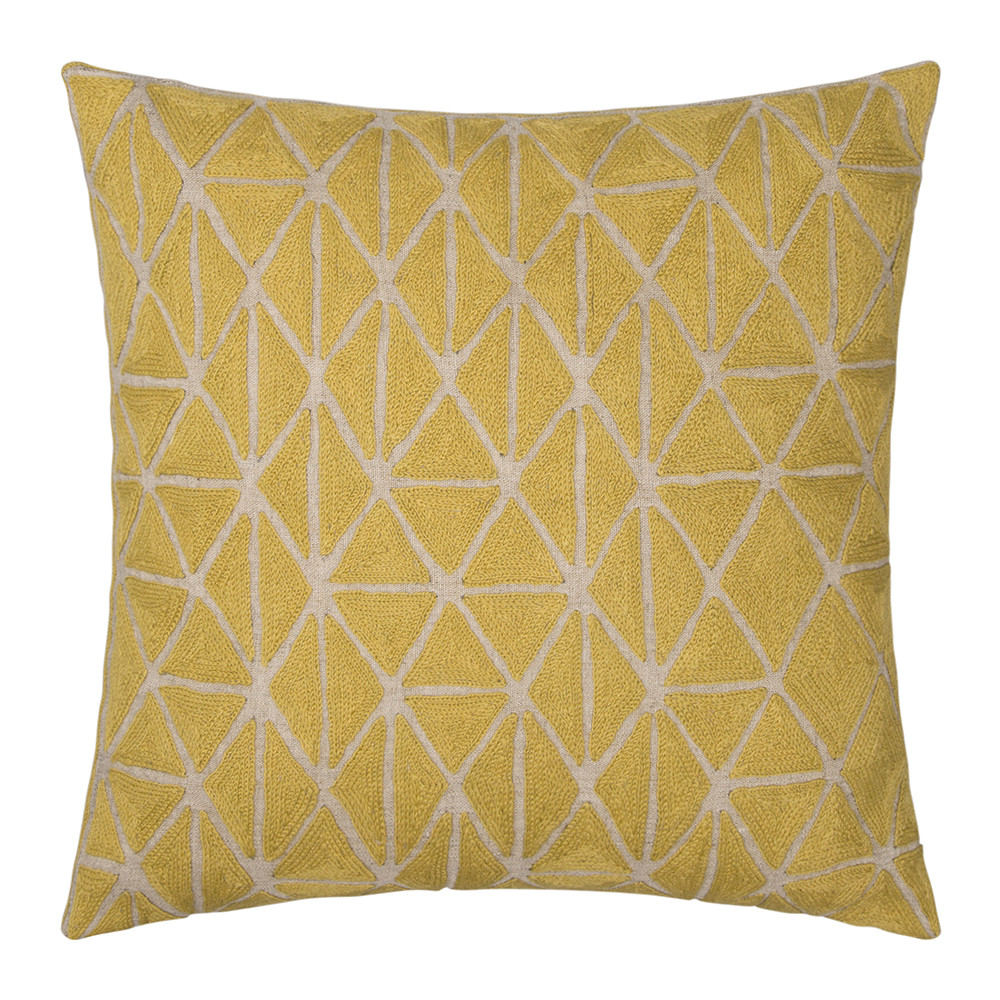 Niki Jones - Berber Cushion - Chartreuse  Natural