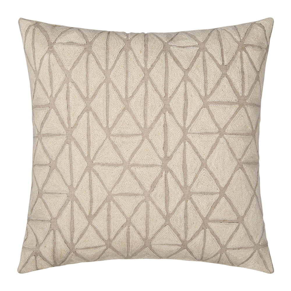 Niki Jones - Berber Cushion - Ecru  Natural