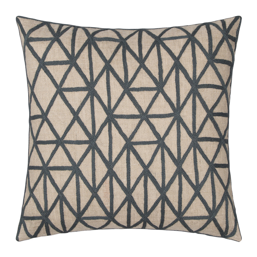 Niki Jones - Berber Pillow - 50x50cm - Slate & Natural