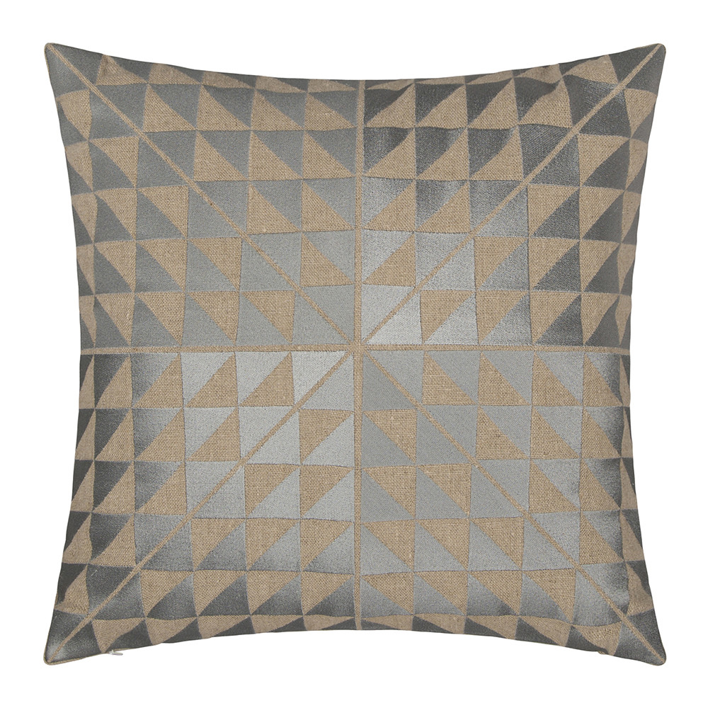 Niki Jones - Geocentric Cushion - Ash Grey  Natural