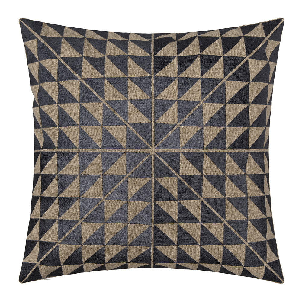 Niki Jones - Geocentric Cushion - Slate  Natural