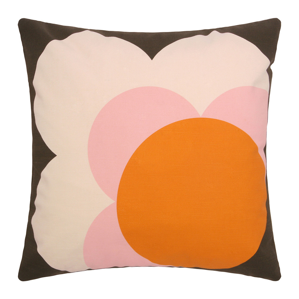 Bigspot Com Reviews >> Buy Orla Kiely Single Bigspot Shadow Flower Cushion Nutmeg - 45x45cm | Amara