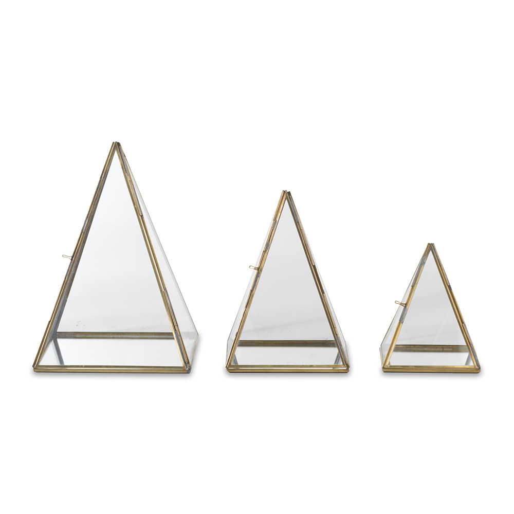 Nkuku - Bequai Display Pyramid - Antique Brass - Large