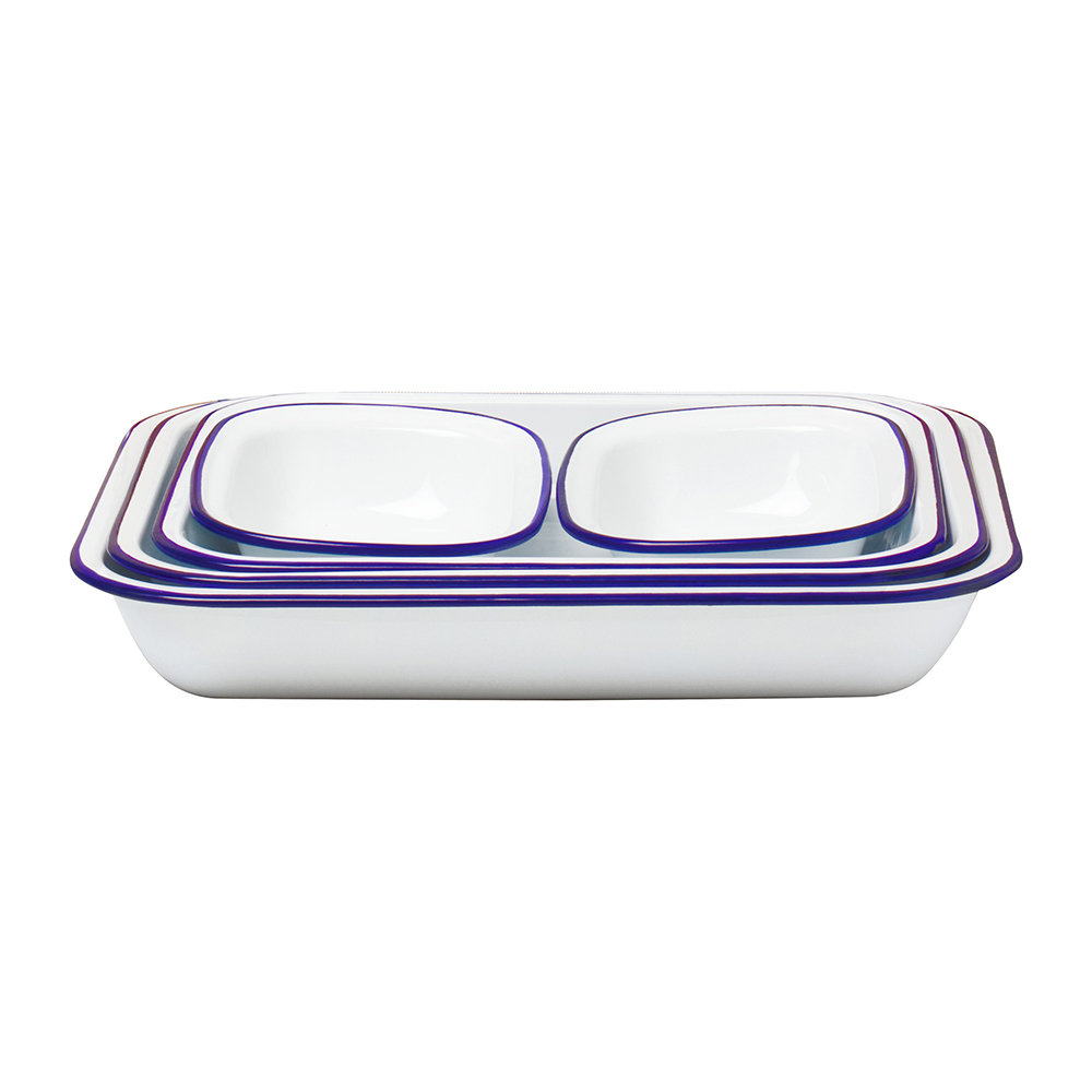 Falcon - Bake Set - White with Blue Rim