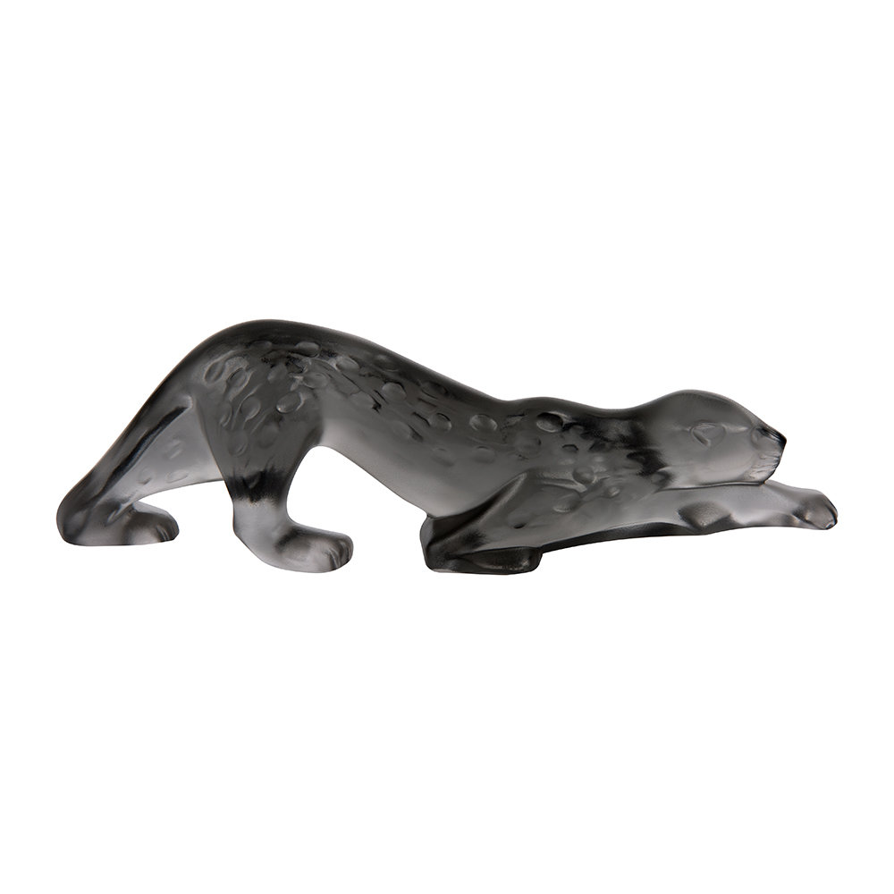 Lalique - Small Zeila Panther Sculpture - Grey