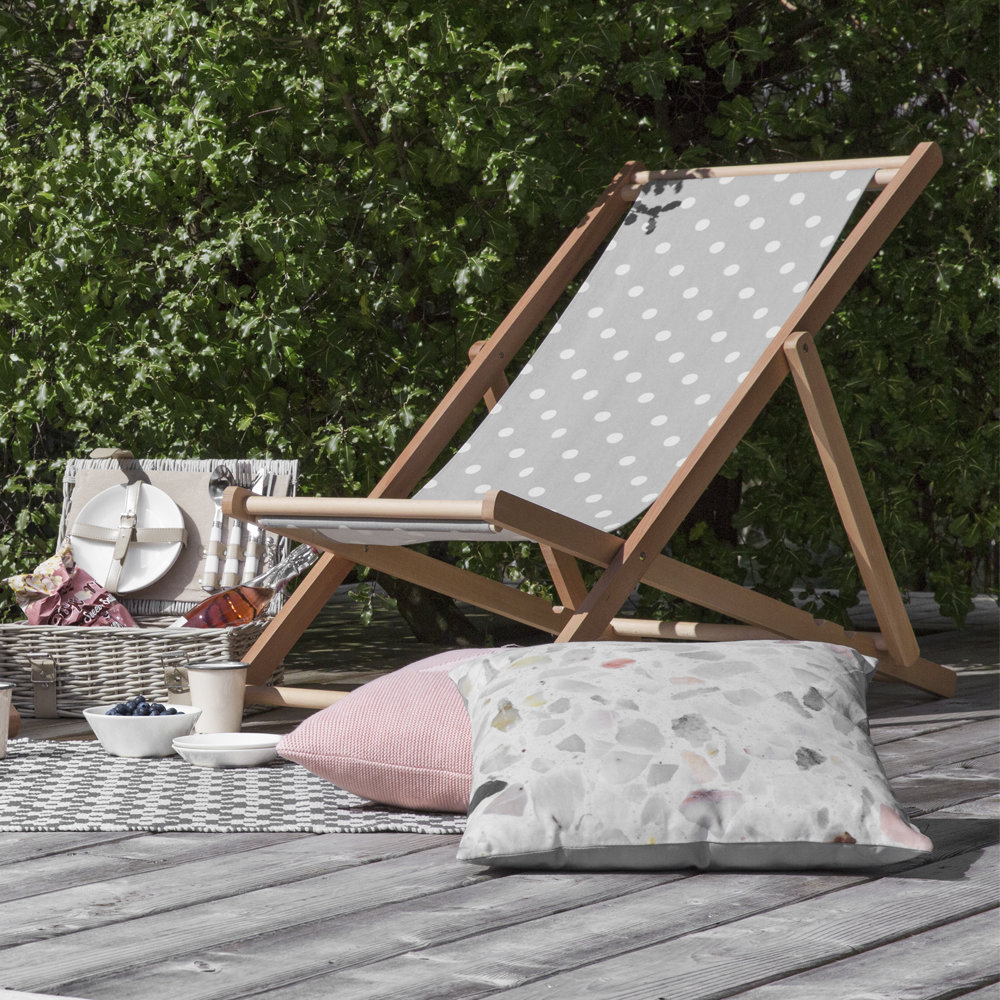 Bloomingville - Deck Chair - Gray Dots