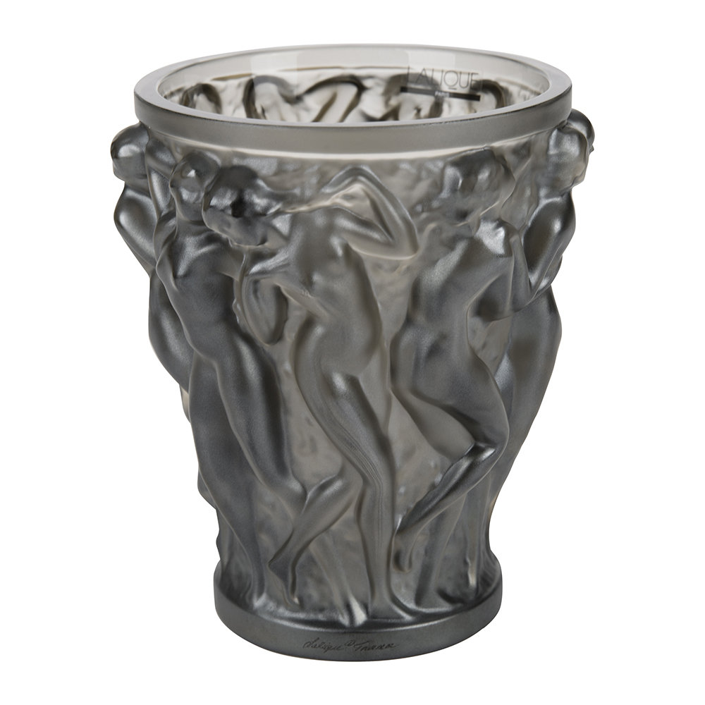 Lalique - Bacchantes Crystal Vase - Bronze - Small