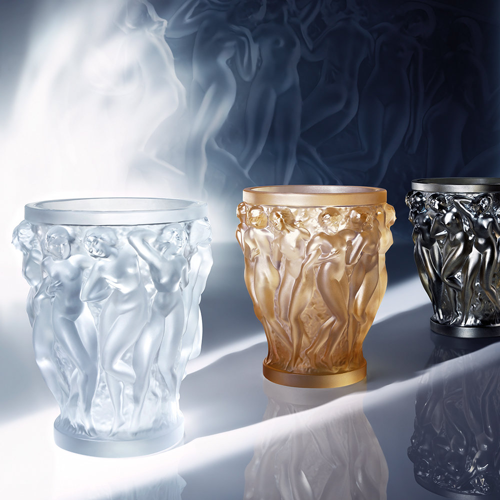 Lalique - Bacchantes Crystal Vase - Clear - Large