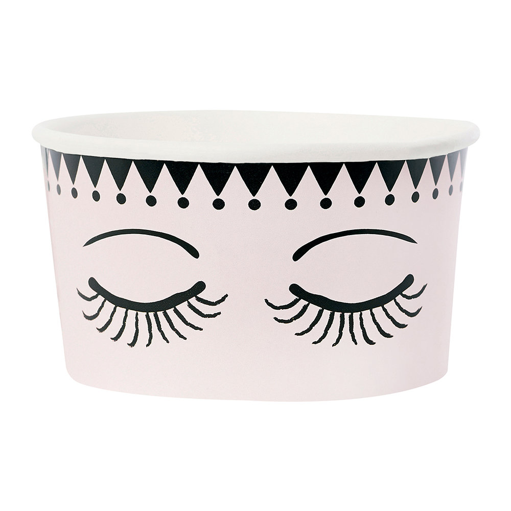 Miss Étoile - Ice Cream Cups With Spoons - Set of 8 - Eyes & Dots