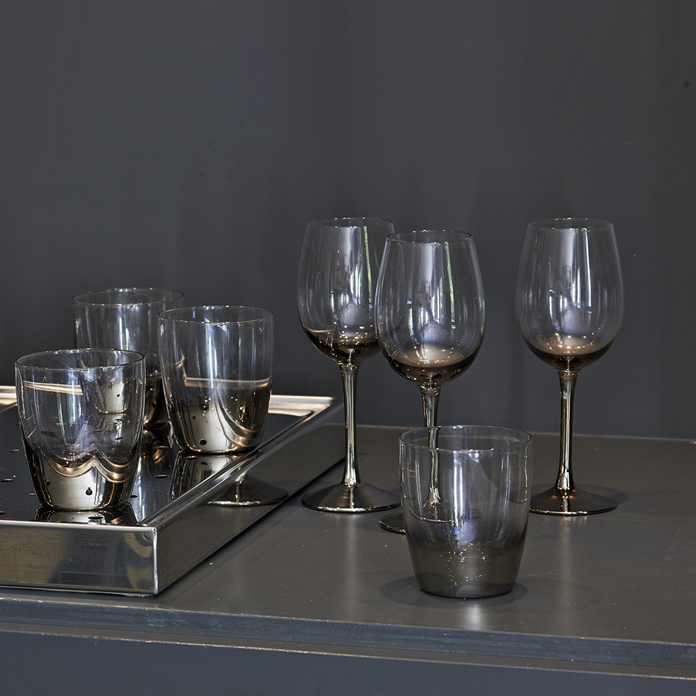 Pols Potten - Half-Platinum Wine Glass - Set of 4