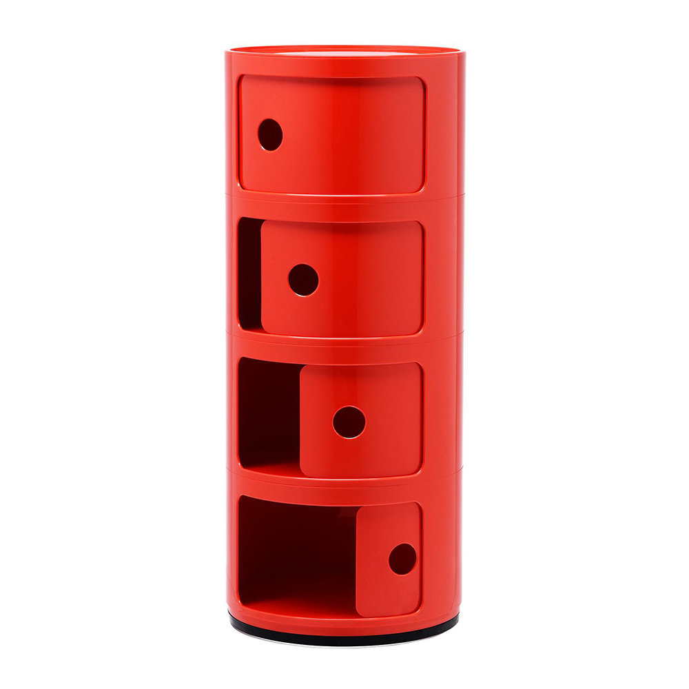 Kartell - Componibili Storage Unit - Red - Large
