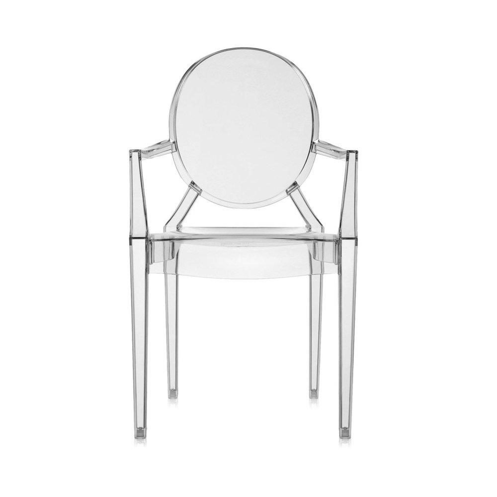 Kartell - Louis Ghost Armchair - Smoke Gray
