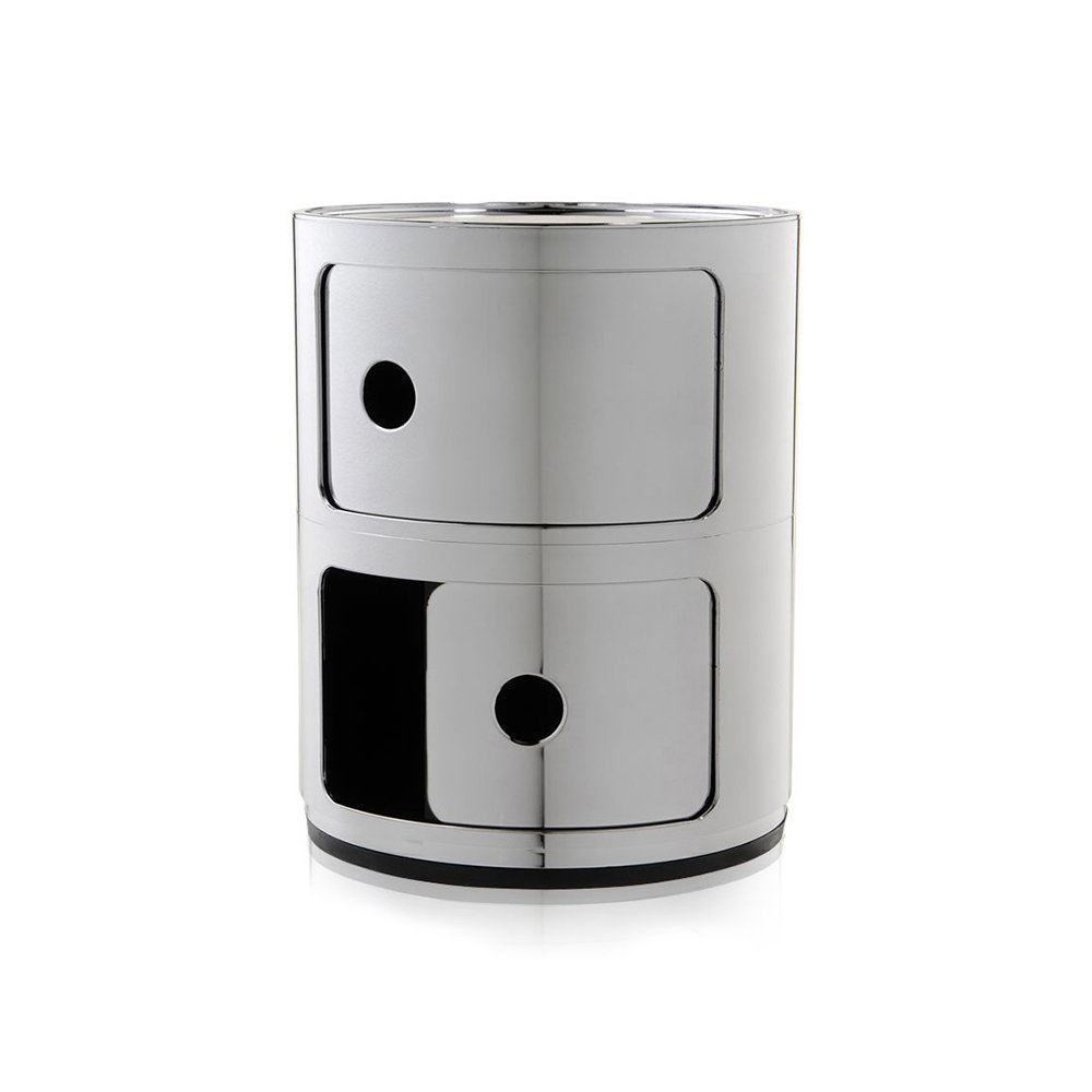 Kartell - Componibili Storage Unit - Chrome - Small