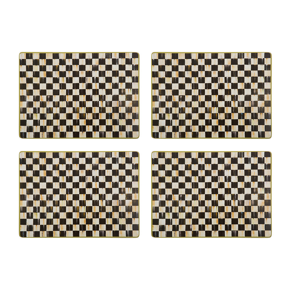 MacKenzie-Childs - Courtly Check Cork Back Placemats - Set of 4