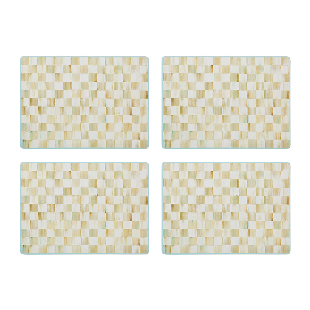 Buy MacKenzie Childs Parchment Check Cork Back Placemats  : parchment check cork back placemats set of 4 675896 from us.amara.com size 1000 x 1000 jpeg 125kB