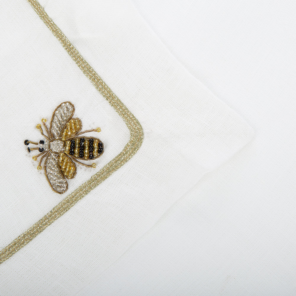 Joanna Buchanan - Bee Napkin - Set of 2 - White