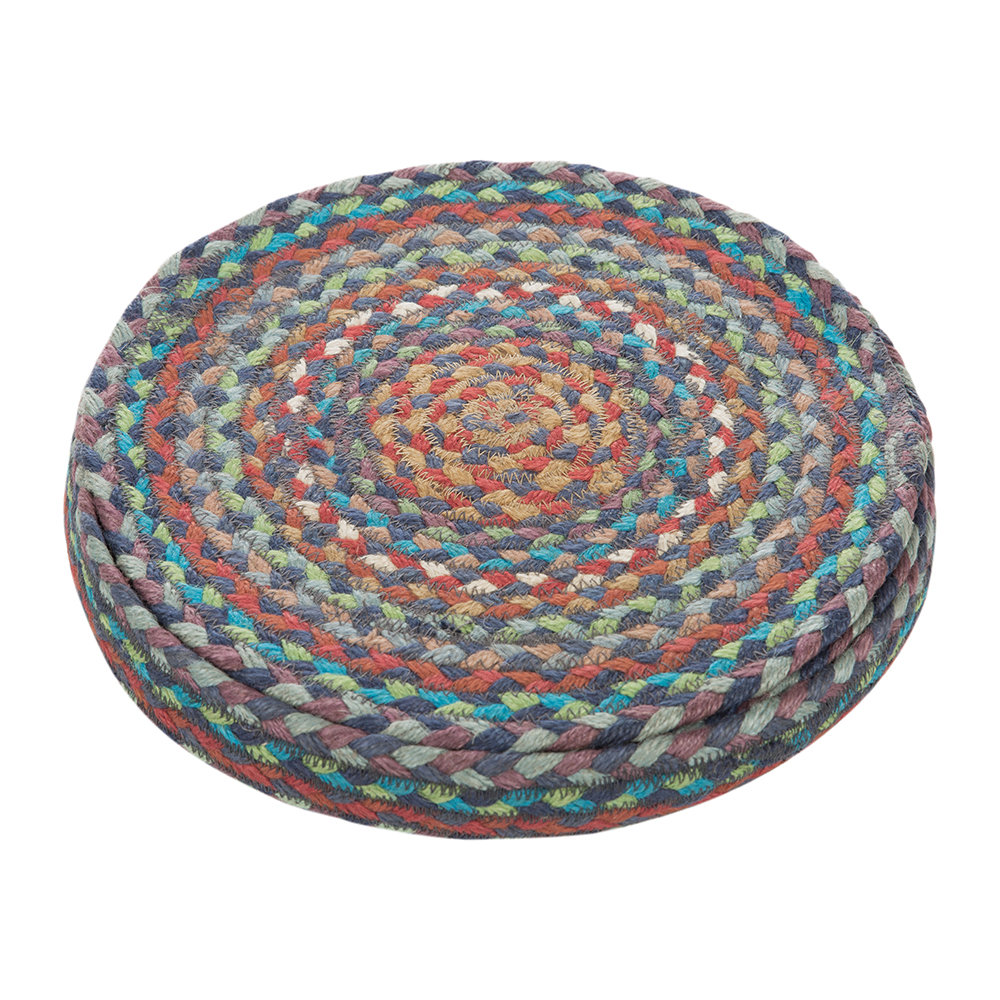 Buy the braided rug company round placemats set of 6 for Table placemats
