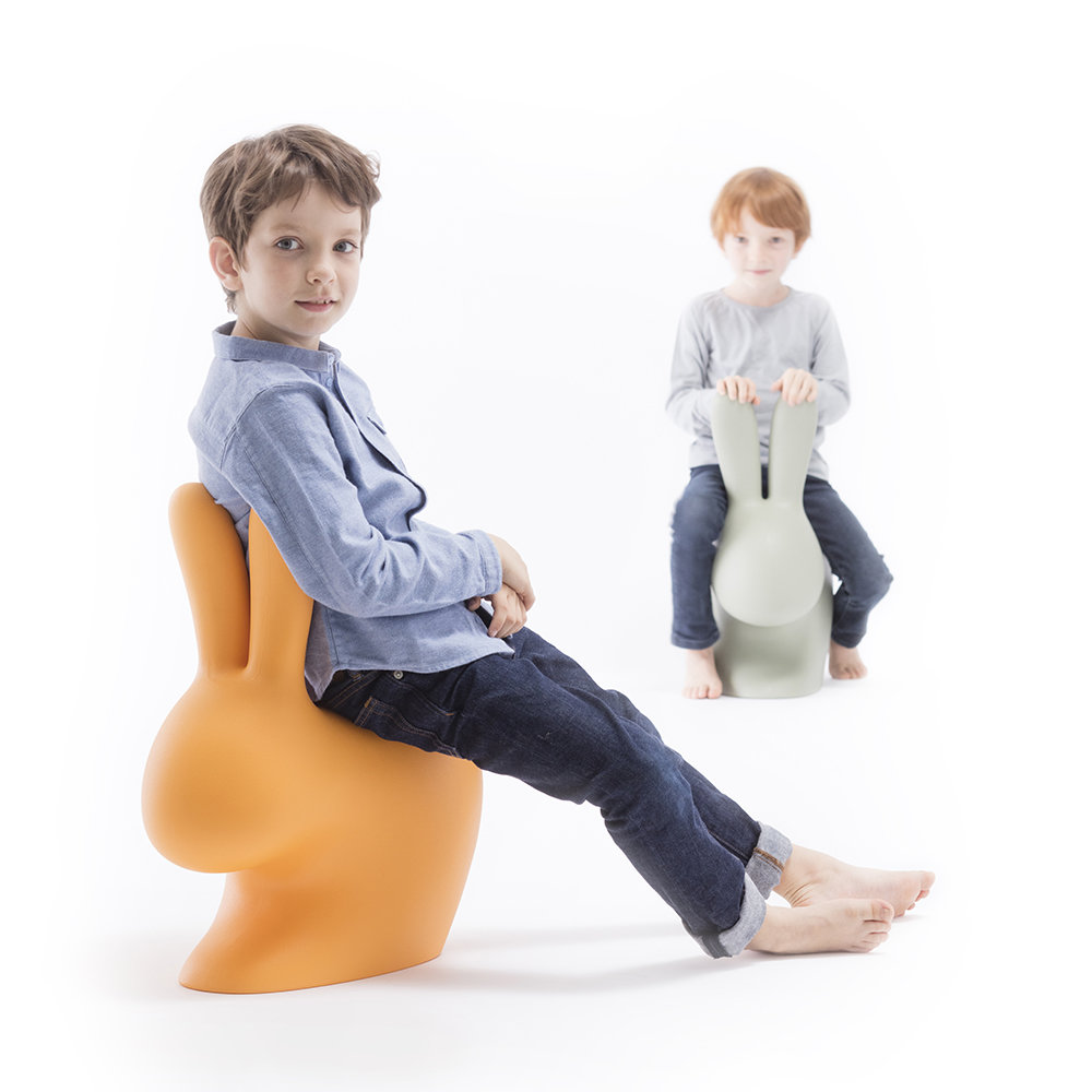 Qeeboo - Rabbit Chair - Orange - Baby