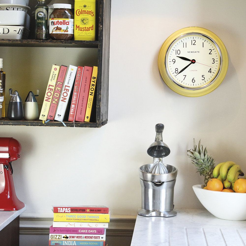 Newgate Clocks - The Cookhouse Wall Clock - Squeezy Lemon