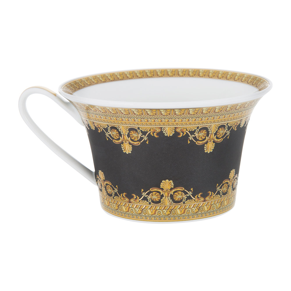 Versace Home - I Love Baroque Low Cup & Saucer - Set of 6 - Black
