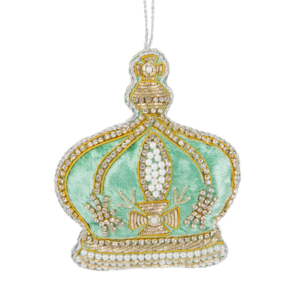 Buy tinker tailor pearl crown tree decoration turquoise for Christmas crown decoration