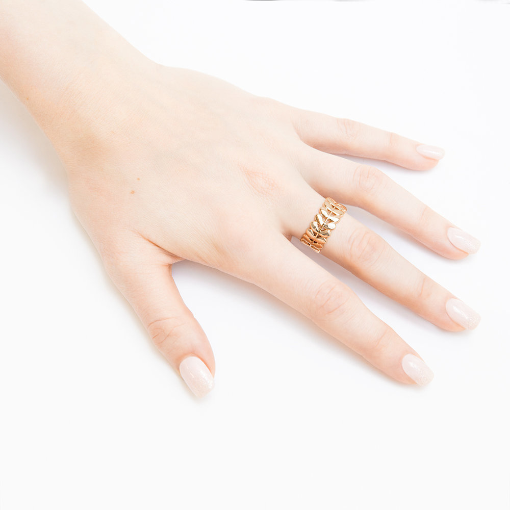 Orla Kiely - Buddy Rose Gold Stem Ring - 60