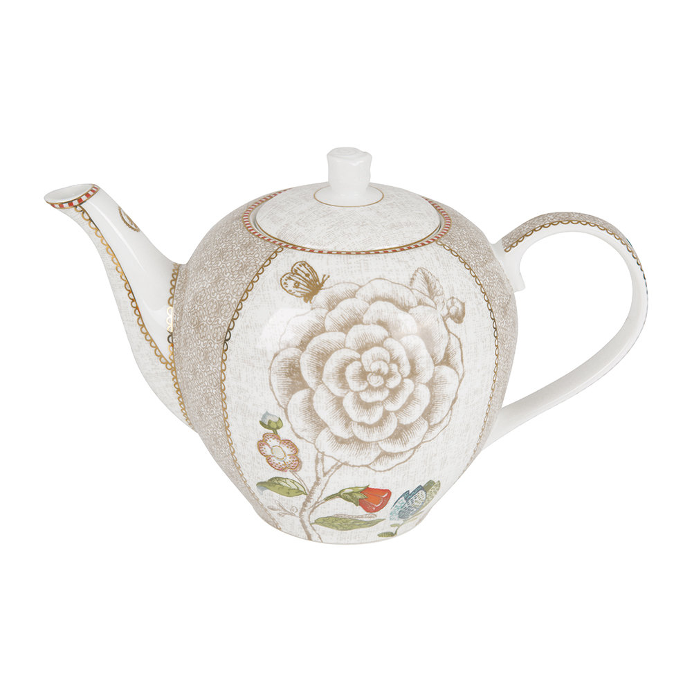 Pip Studio  Spring To Life Teapot  Cream  Large