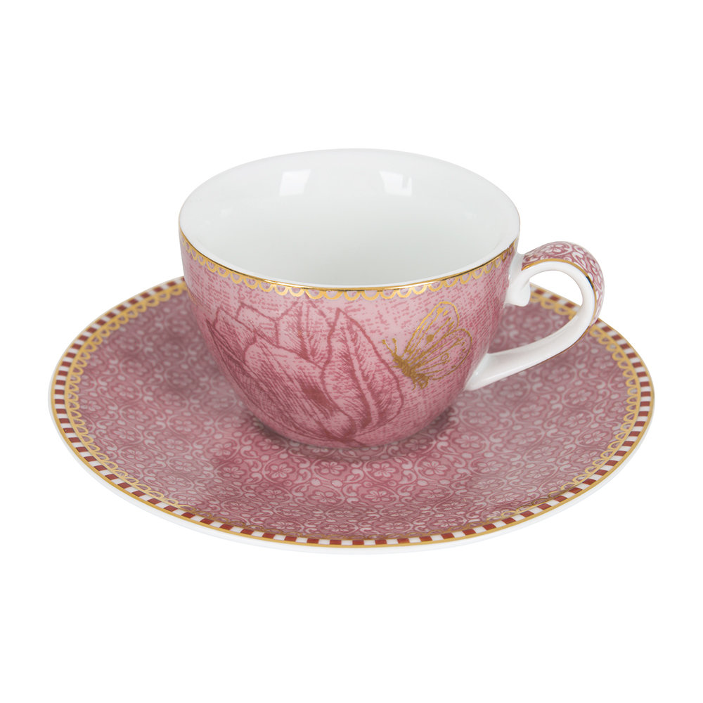 Pip Studio - Spring To Life Espresso Cup & Saucers - Set of 2 - Pink