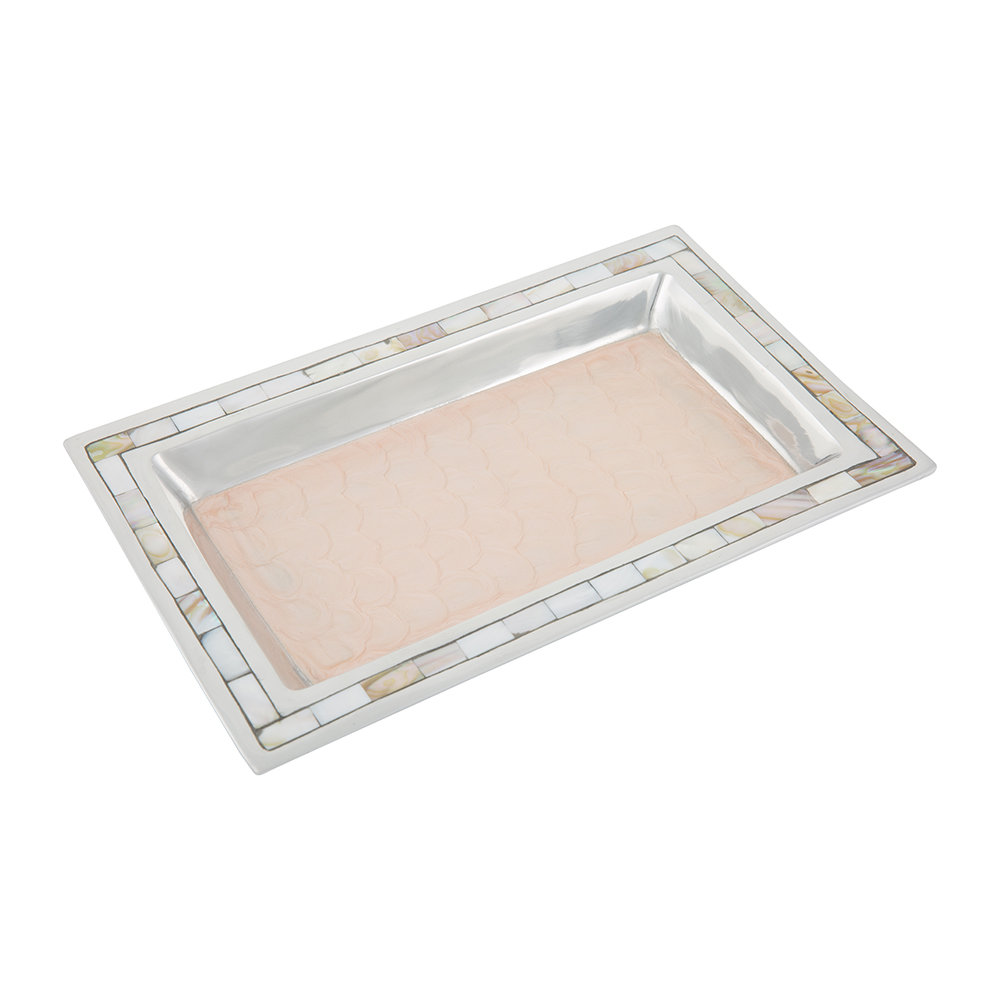 Buy julia knight classic vanity tray pink ice amara for Bathroom tray