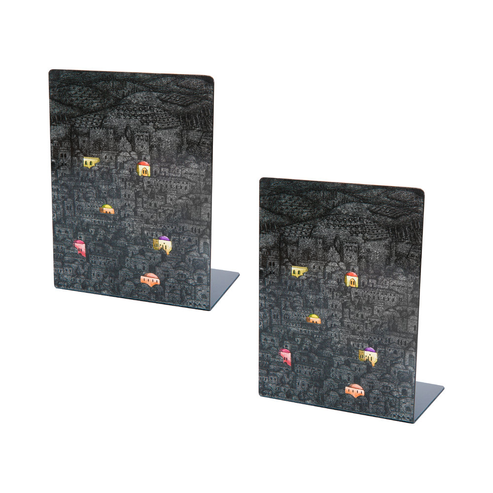 Fornasetti - Gerusalemme di Notte Bookends - Set of 2