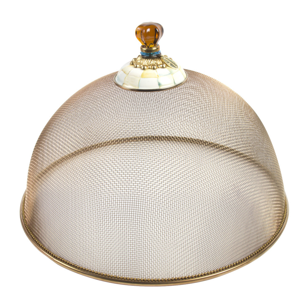 MacKenzie-Childs - Parchment Check Mesh Dome - Large