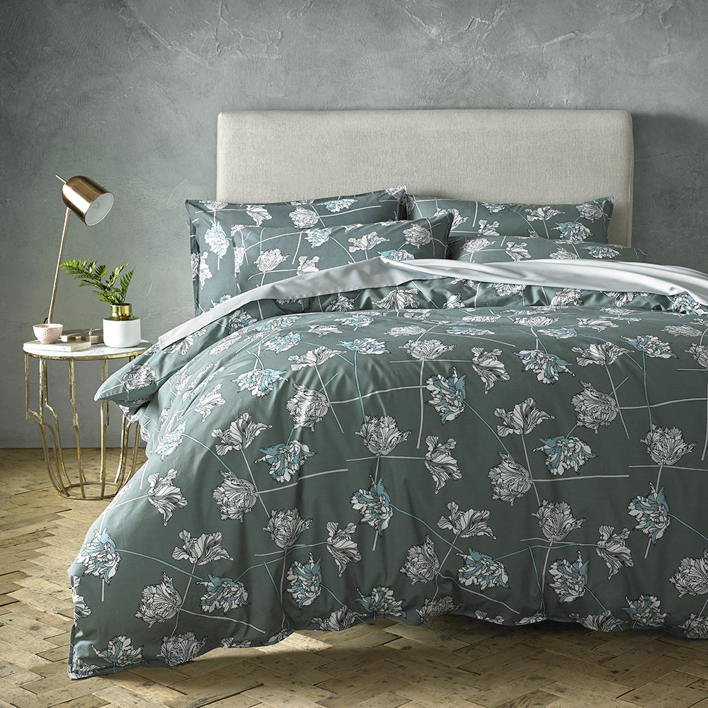 Jigsaw Home - Dancing Tulips Duvet Cover - Super King