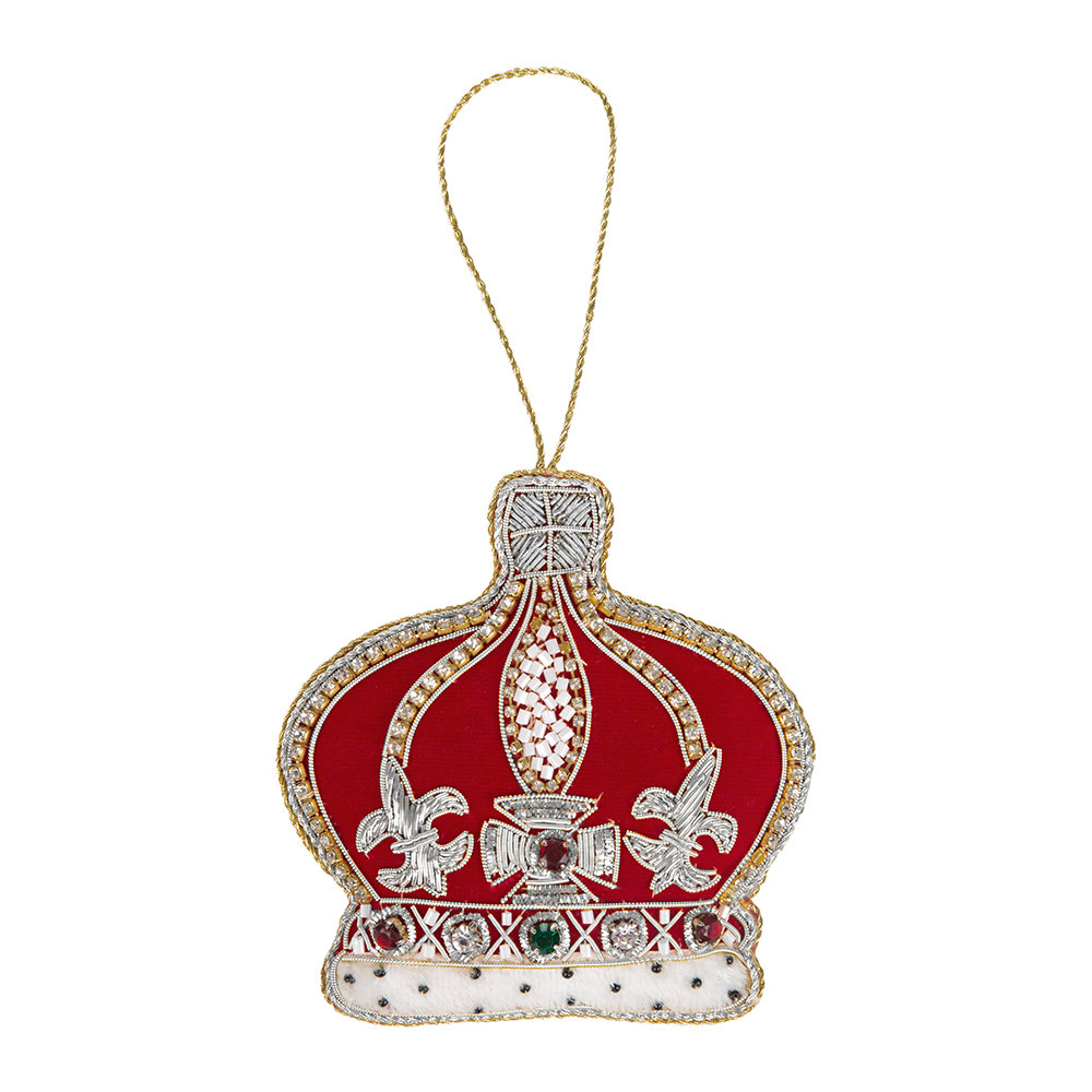 Tinker Tailor - Crystal Red Crown Christmas Tree Decoration