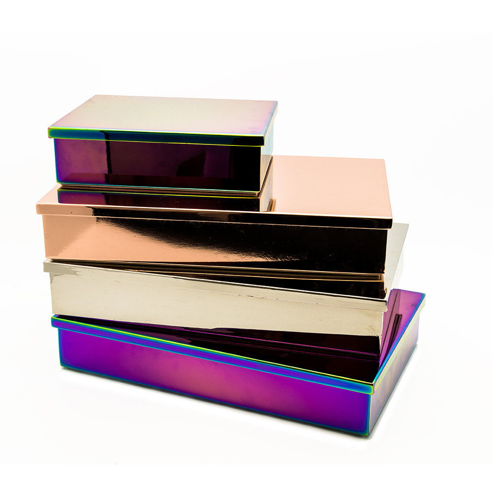 Lund London - Luxe Box with Lid - Oil Slick - Queen