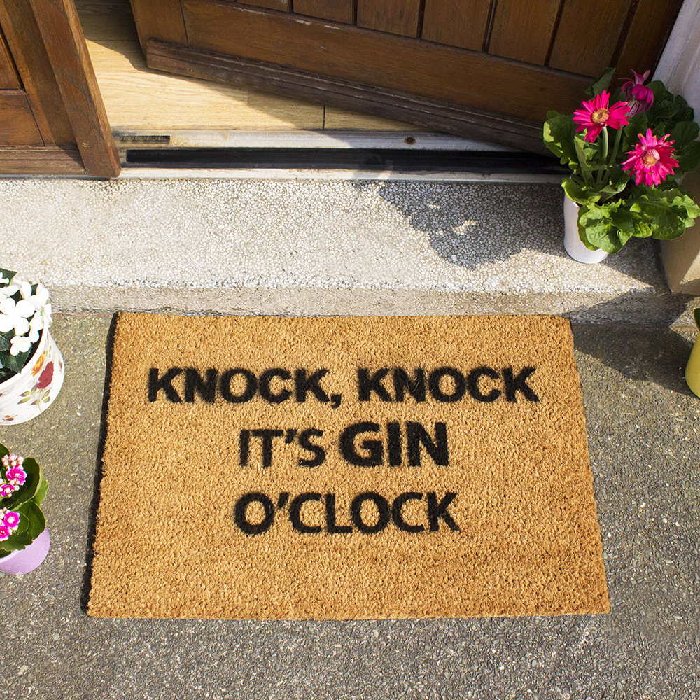 Buy Artsy Doormats Gin O Clock Door Mat Amara