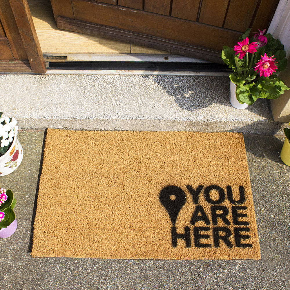 Artsy Doormats - You Are Here Door Mat