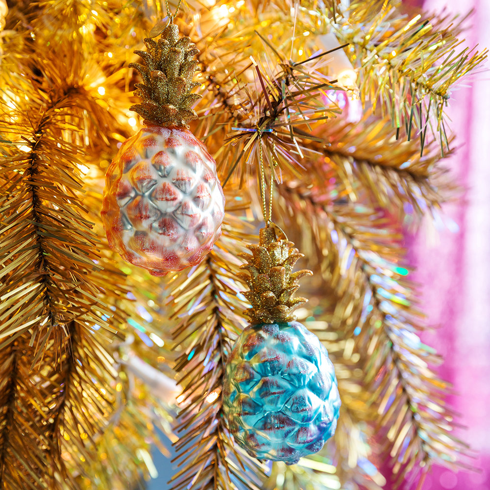 Awesome Christmas Tree Decorating Ideas In Pastel For: Buy A By Amara Pineapple Tree Decoration - Pastel Blue