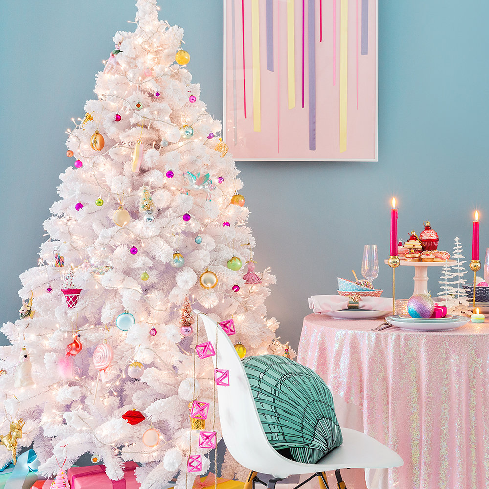 Awesome Christmas Tree Decorating Ideas In Pastel For: Buy Gisela Graham Pastel And Pearl Tree Decoration
