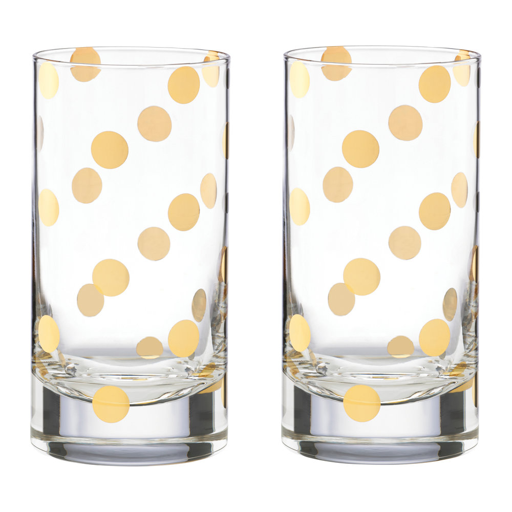 kate spade new york  Pearl Place Hiball Tumblers  Set of 2