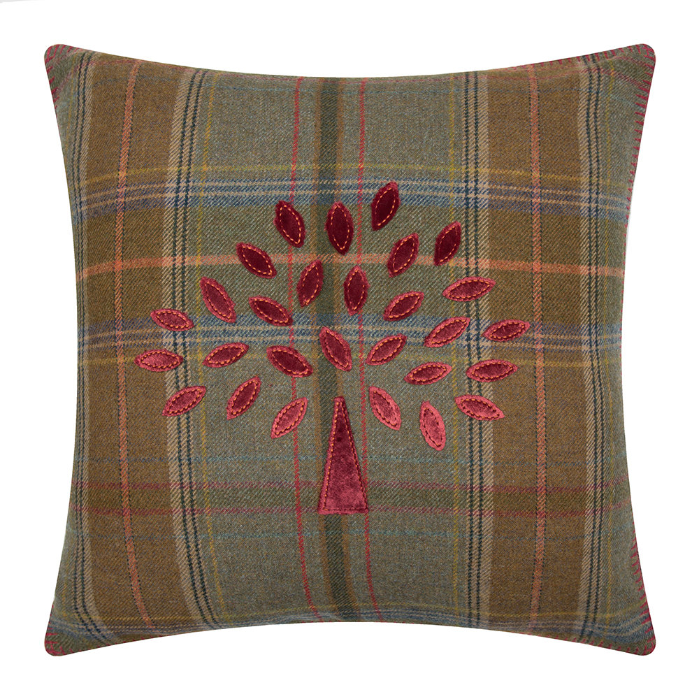 Buy mulberry home mulberry tree plaid cushion 50x50cm for Mullberry home